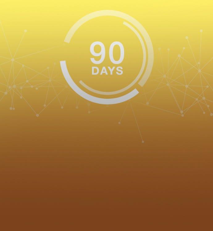 90 天的數據